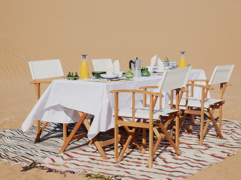 Breakfast Table Prepared in the Sahara Morocco