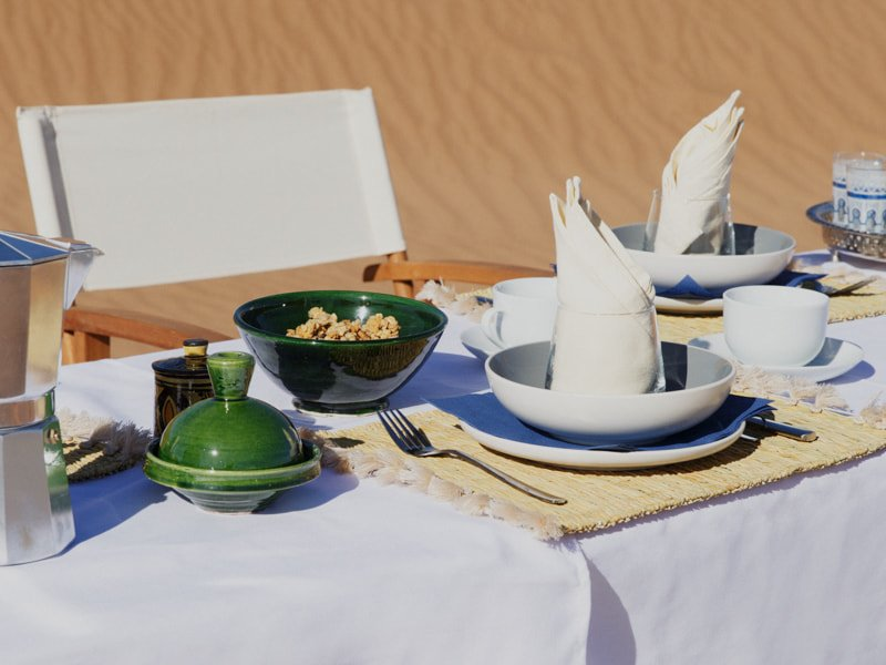 Luxury Al Fresco Breakfast at Erg Chegaga Camp