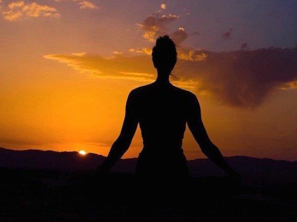 Meditation at Sunset at the Sahara Yoga Retreat