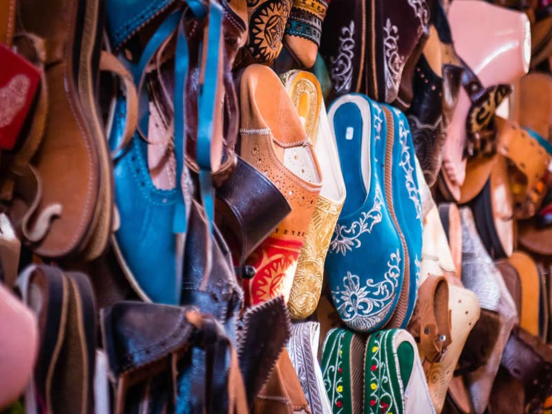 Comfortable Footware, Shoes, Sandals, Slippers to relax in at Marrakech Retreat