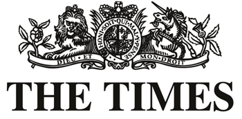 The Times Newspaper Logo black on white