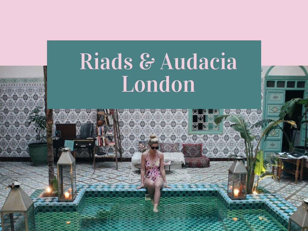RIAD POOL DIPS IN AUDACIA LONDON