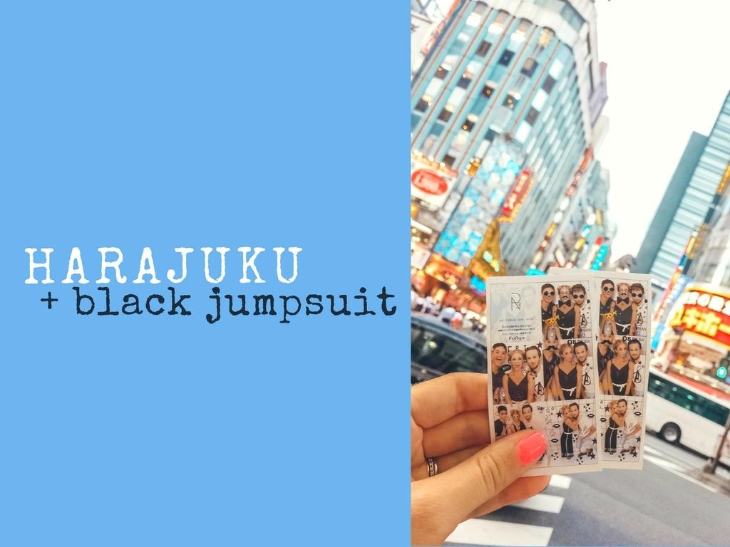 HARAJUKU + BLACK JUMPSUIT