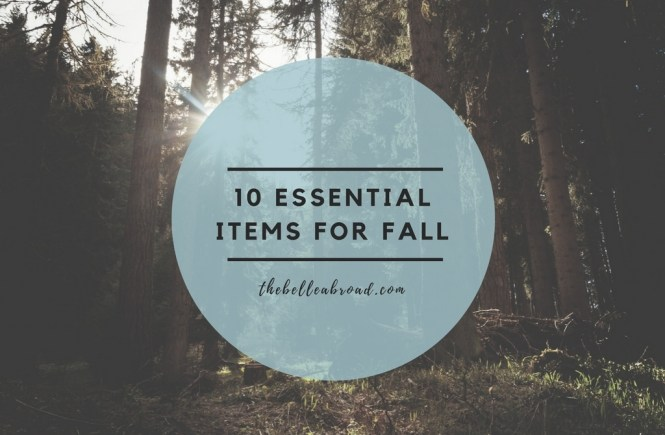 10 essential items for fall, FASHION