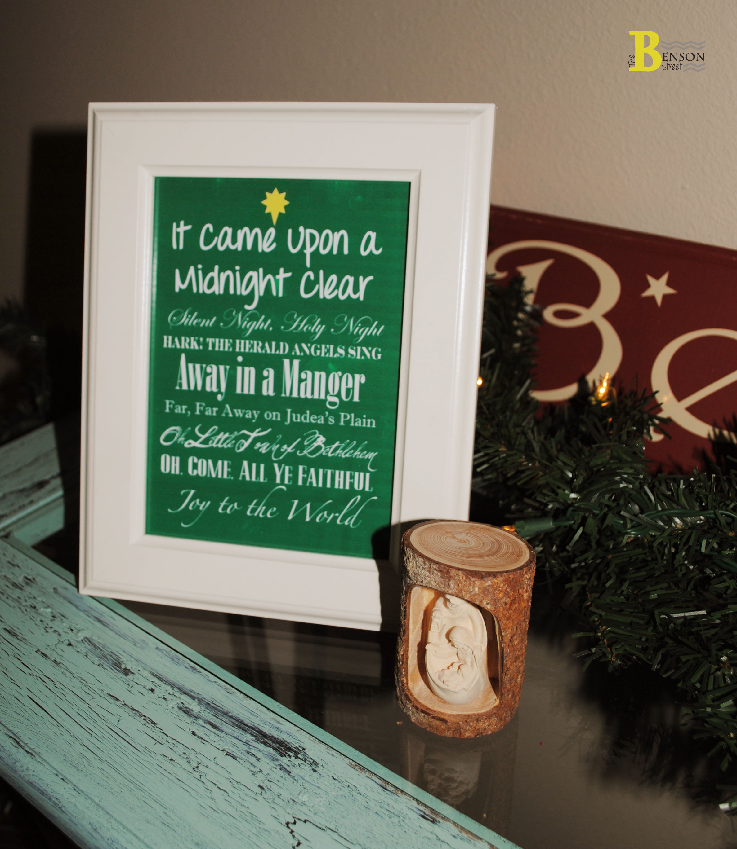 photo relating to Printable Hymns referred to as Free of charge Xmas Hymns Printable - The Benson Road