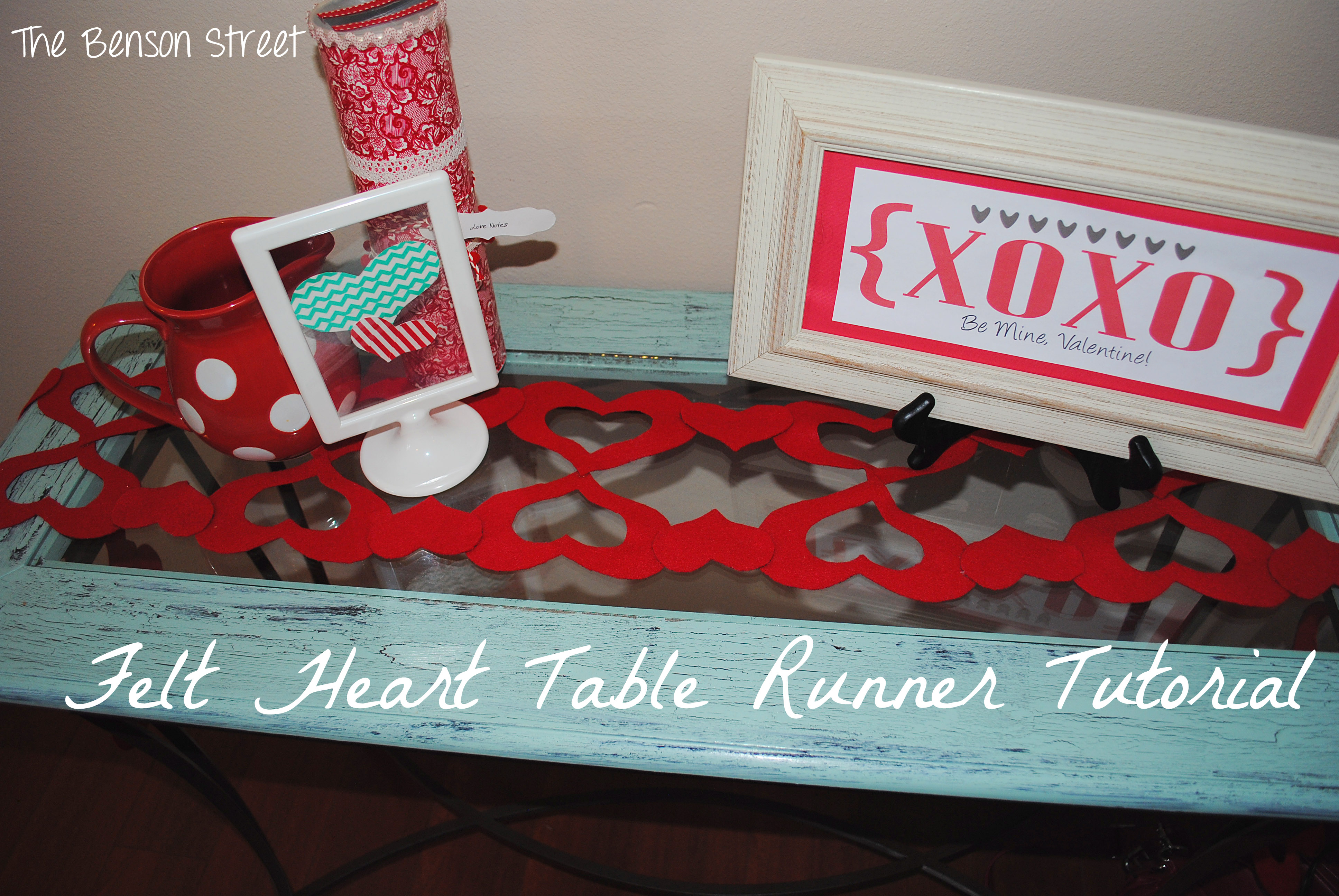 Felt Heart Table Runner10