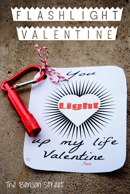 Flashlight Printable Valentine at The Benson Street7