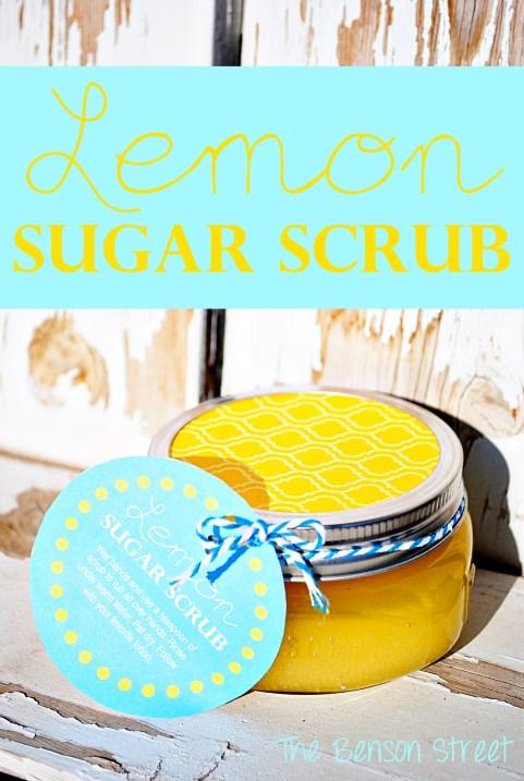 Easy Lemon Sugar Scrub at www.thebensonstreet.com
