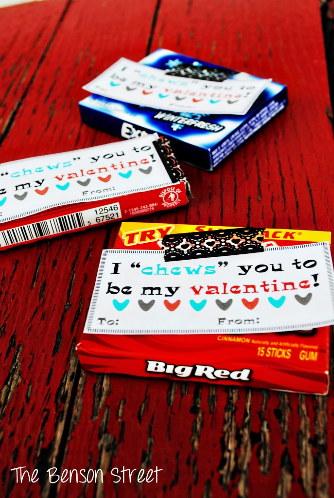 Chewing Gum Valentine Printable Valentines Day Six The