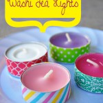 DIY Washi Tea Lights