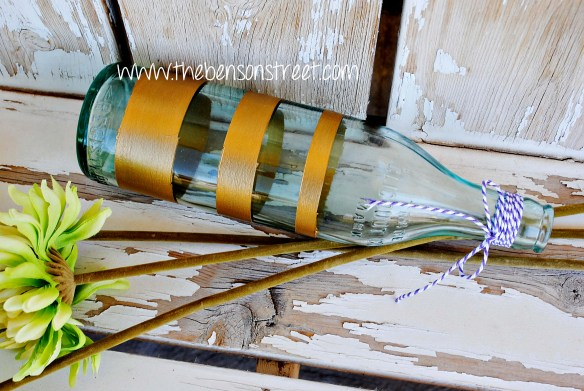 DIY Painted Vintage Bottle at www.thebensonstreet.com 3