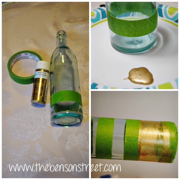 DIY Painted Vintage Bottle at www.thebensonstreet.com 7