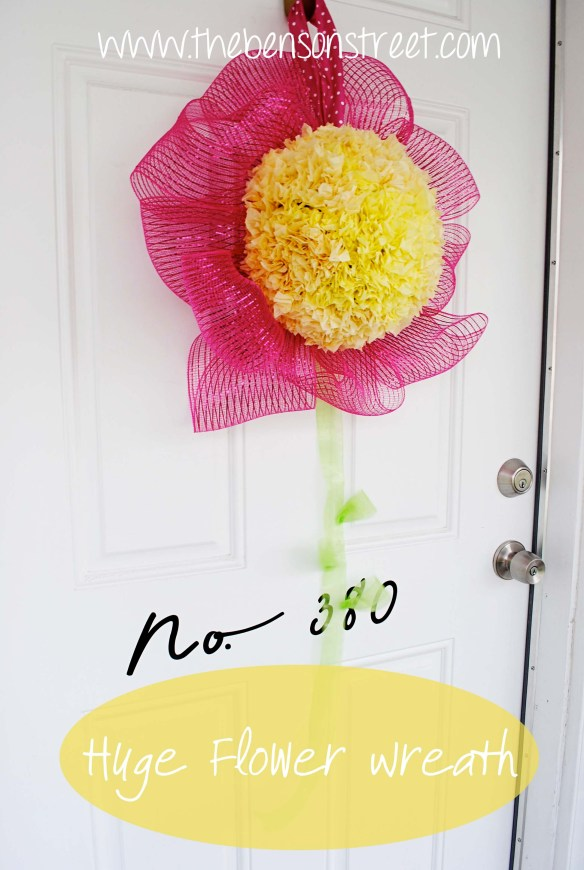Huge Flower Wreath at www.thebensonstreet.com