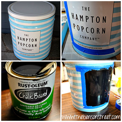 DIY Chalkboard Can at www.thebensonstreet.com