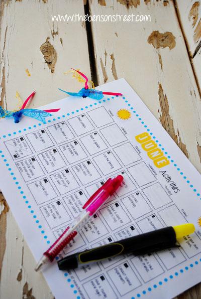 Summer Activities for Kids at www.thebensonstreet.com