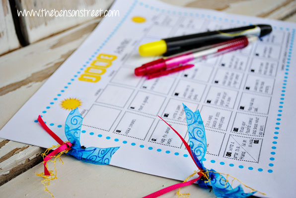 Summer Activity Calendar at www.thebensonstreet.com
