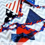 No Sew Patriotic Banner