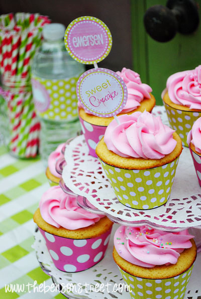 Cupcake Birthday Ideas with DimplePrints at www.thebensonstreet.com
