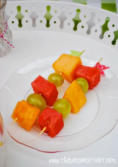 Fruit Kabobs at www.thebensonstreet.com