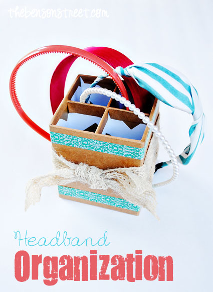 Easy Headband Storage at thebensonstreet.com