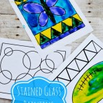 Stained Glass Painting for Kids {Summer Camp Instructor}