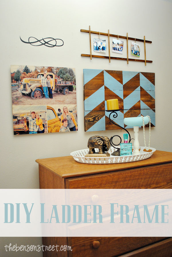 Ladder Frame Tutorial at thebensonstreet.com #frame #diy