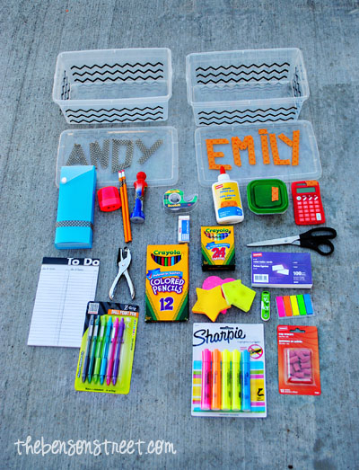 Portable Homework Station Supplies at www.thebensonstreet.com