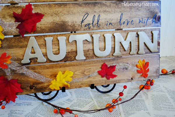 Autumn Wood Sign at thebensonstreet.com