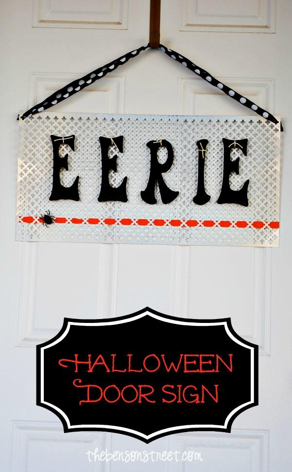 Halloween Door Sign at thebensonstreet.com