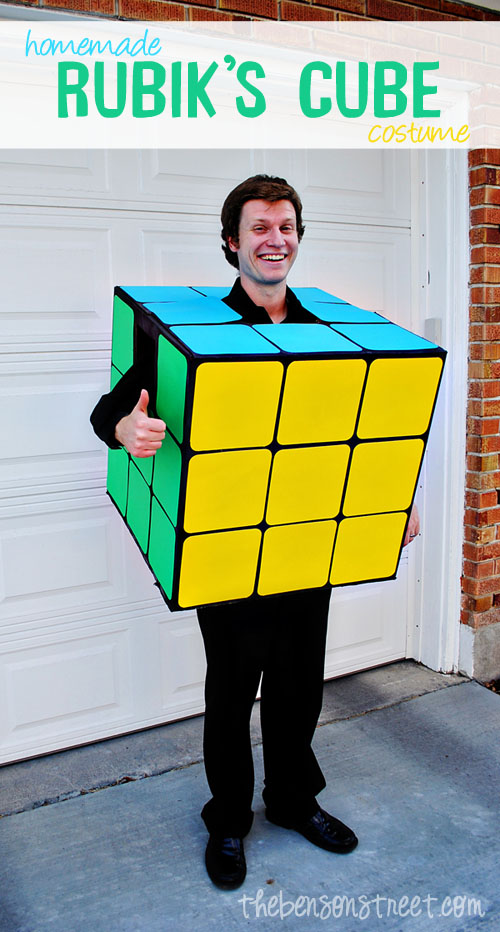 Homemade Rubik's Cube Costume Tutorial at thebensonstreet.com