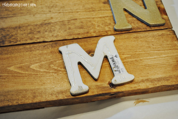 Metallic Autumn Pallet Sign at thebensonstreet.com