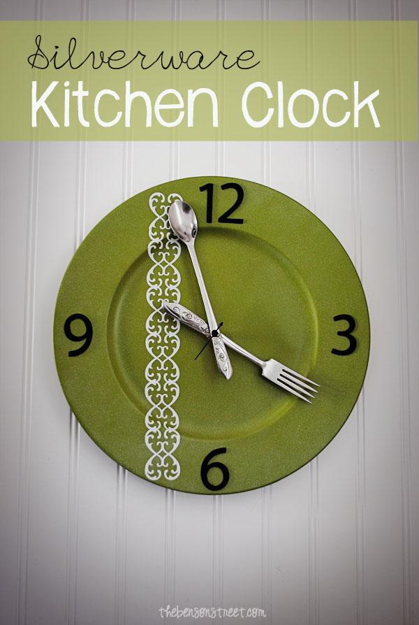 Silverware Kitchen Clock Tutorial at thebensonstreet.com