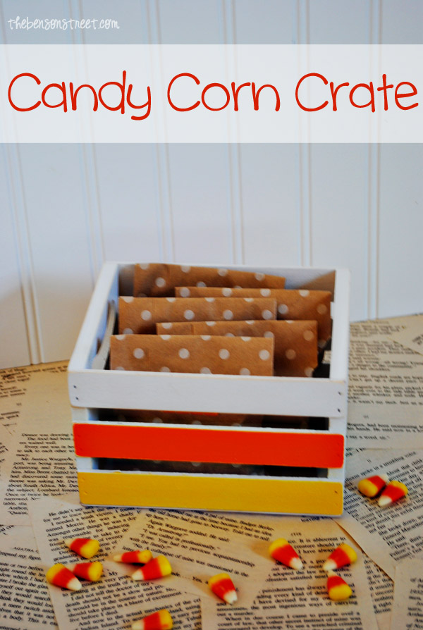 Candy Corn Crate Tutorial at www.thebensonstreet.com