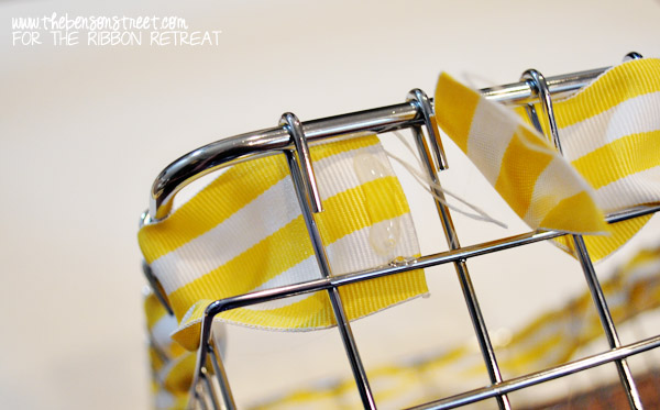 Ribbon Weaved Wire Baskets