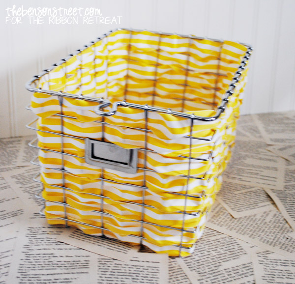 Wire Baskets with Ribbon Tutorial