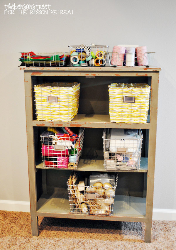 Wire Baskets with Ribbons Tutorial