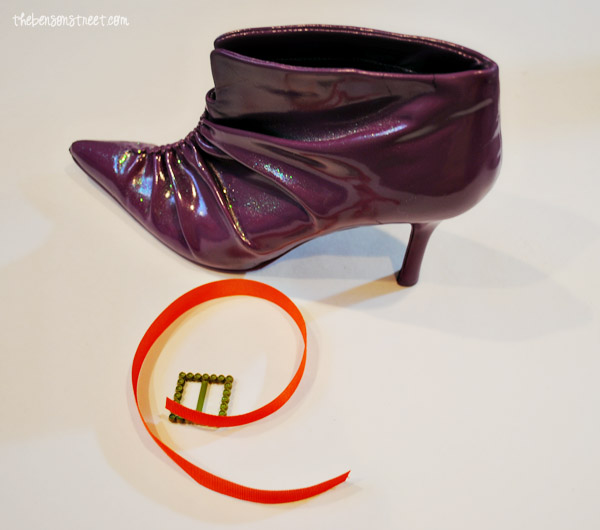 Witch shoes with Buckles for Halloween at thebensonstreet.com
