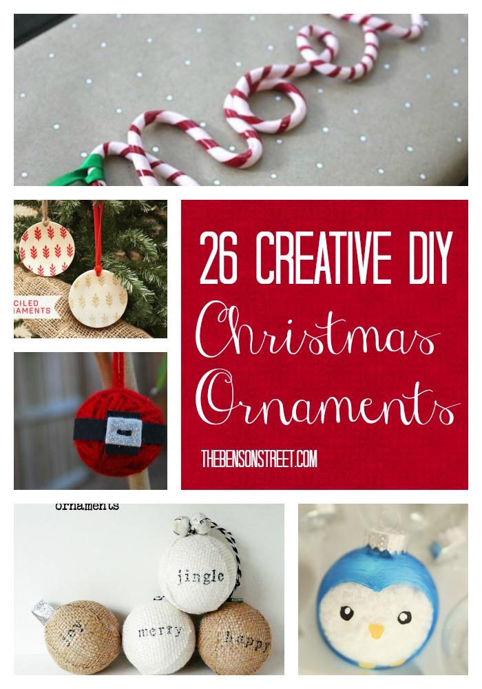 26 Creative DIY Christmas Ornaments at thebensonstreet.com