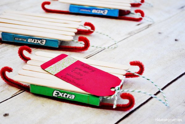 Cute Gum Sled Gifts at thebensonstreet.com #shop #GiveExtraGum