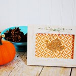Gold Glitter Turkey Frame with Cricut