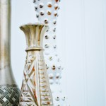 Vintage Gold Painted Vases {Blog Hop}