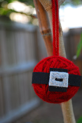 Santa Yarn Ornament