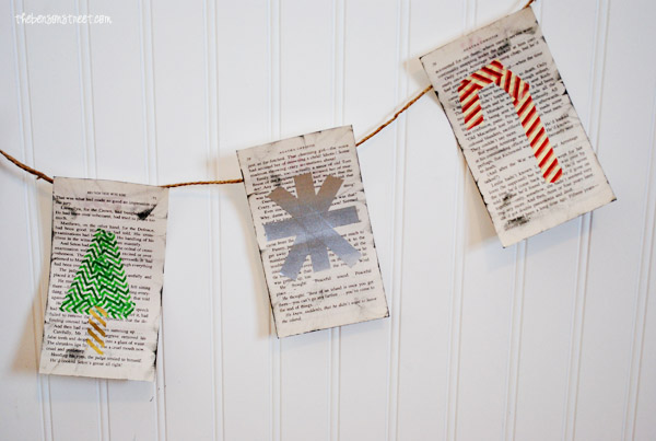 Adorable and easy to create vintage book page banner at thebensonstreet.com