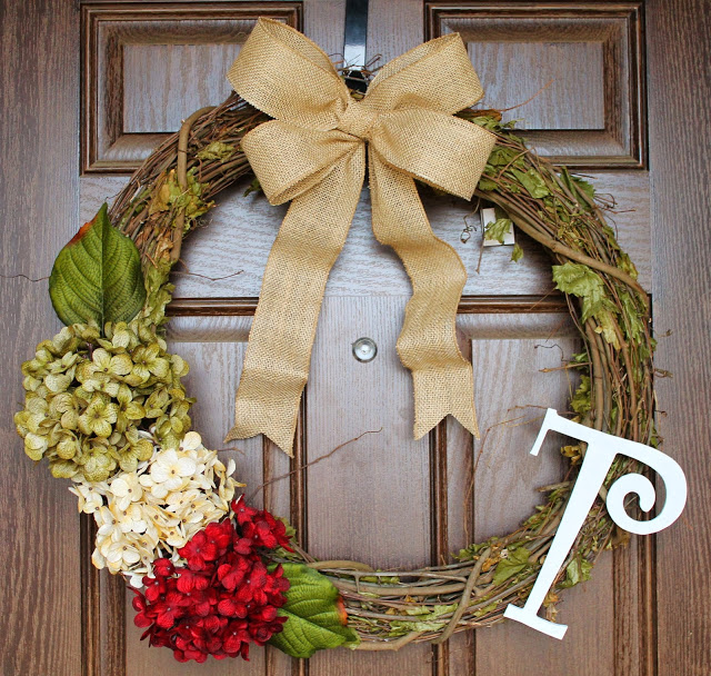 Flower Christmas Wreath