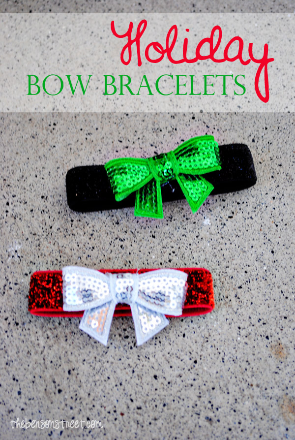Holiday Bow Bracelets at thebensonstreet.com
