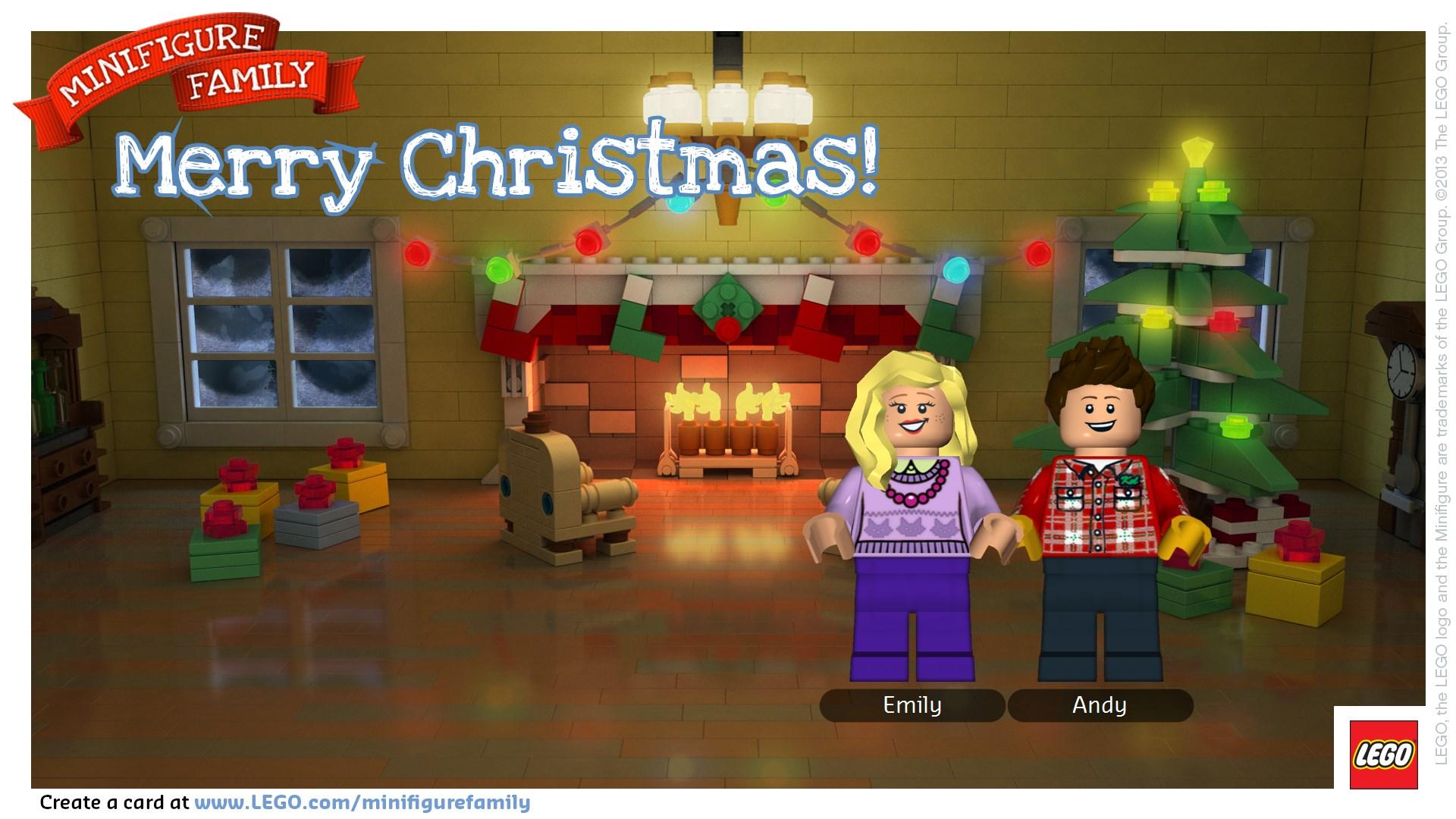 Fun Holiday Minifigure LEGO Card at thebensonstreet.com
