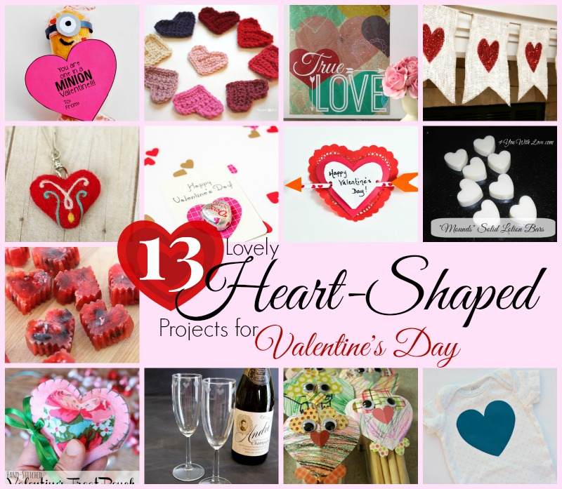 13 heart shaped projects