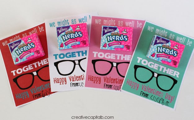 Be Nerds Together Valentines for Class 1