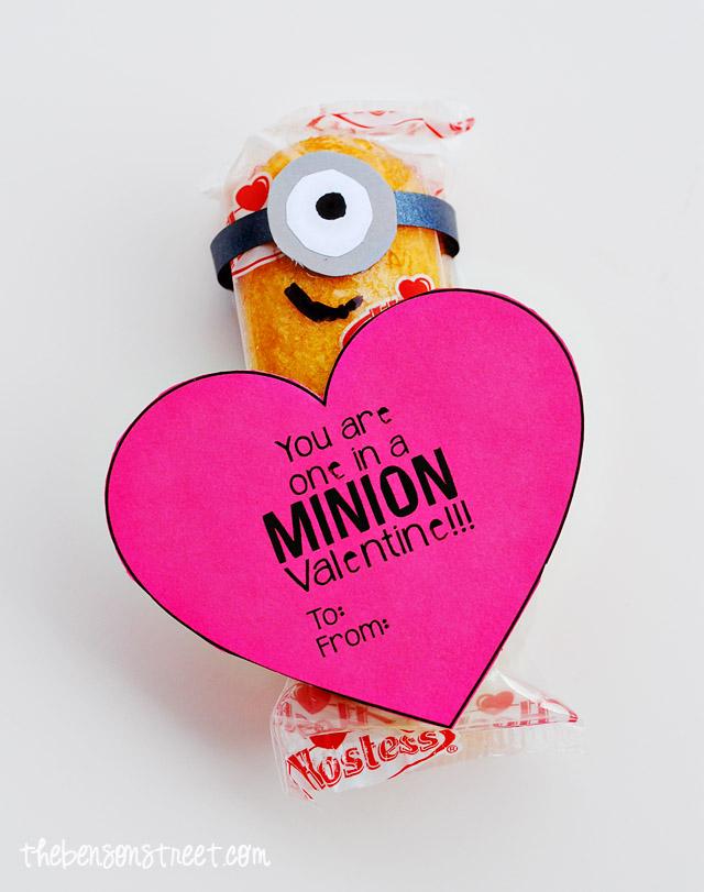 image regarding You Re One in a Minion Printable titled Basic Printable Minion Valentine #MyFavoriteBloggers - The