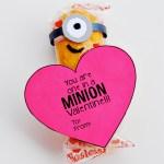 Easy Printable Minion Valentine #MyFavoriteBloggers